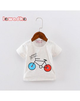 Sport Baby Girls Boys t-shirt Short Sleeve Bicycle Pattern t-shirts for boys Cotton Children Clothes