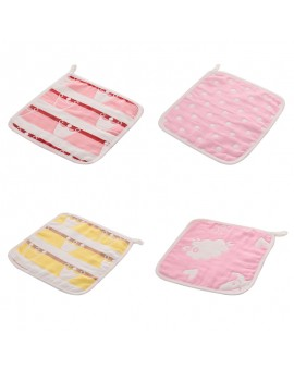 4pcs/set Cartoon Handkerchief Baby Six Layer Jacquard Cloth Towel Saliva Towel Infant Kids Soft Towel Reusable Bib