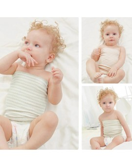 Baby Cotton Belly Circumference Stripe Care Single Layer Umbilical Cord Navel Guard Girth Belt Bellyband Baby Nursing Belly