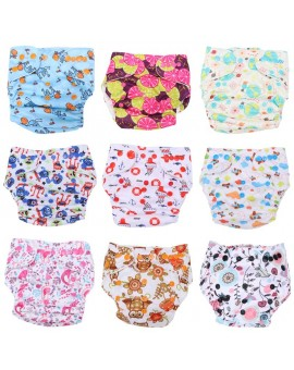 Baby One Size Adjustable Cloth Diapers Cover Washable Baby Nappy Cartoon Reusable Baby Diapers Newborn Breathable Nappy Cover