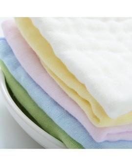 100% Six Layer Gauze Cloth Handkerchief Baby Infant Kids Soft Solid Face Hand Towel Reusable Bib