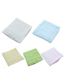 100% Six Layer Gauze Cloth Handkerchief Baby Infant Kids Soft Solid Face Hand Towel Reusable Bib