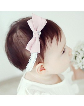 1pcs Cute Bow Satin Baby Hair Ribbon Girls Hairbands Children Hair Accessory Pink Grey Headwear