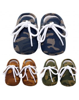 2017 New Baby First Walker Children Pediatric Shoes Soft Sole Lace-up Camouflage Shoes