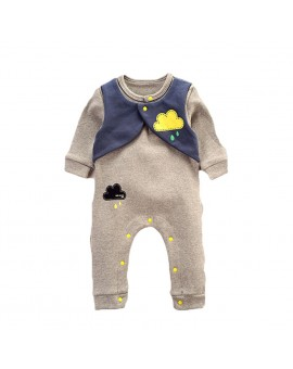 2017 New Fashion Baby Rompers Infant Toddlers Long Sleeve Cloud Print Jumpsuit