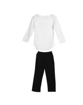 3pcs/set Baby Fashion Clothing Infant Toddler Kids Gentleman Design Bib + Long Sleeve Shirt + Pants Clothes Set