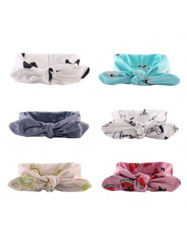 6pcs New Fashion Baby Girls Hair Band Adjustable Knotted Headband Toddler Cute Hair Accessories