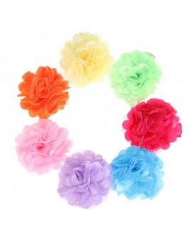 7pcs 5cm Baby Barrettes Girls Florla Charming Hair Clip Toddler Kids Flowers Hairpin Children Girls Hair Accessories