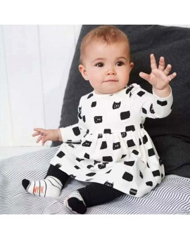 Baby Girls Fashion Clothes Toddler Kids Long Sleeve Dress + Pants Leggings Outfit Infant Clothes Set