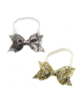 Baby Girls Glitter Sequins Bowknot Hairband Fashion Kids Stretchable Headband Hair Accessories