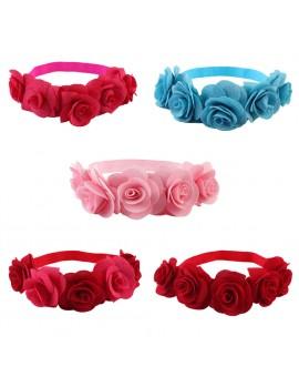 Baby Girls Handmade Soft Cloth Flower Headband Children Photographic Prop Hair Accessories