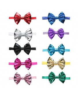 Baby Girls Metallic Bowknot Hairband Hot Stamping Stretchable Headband Kids Hair Accessories