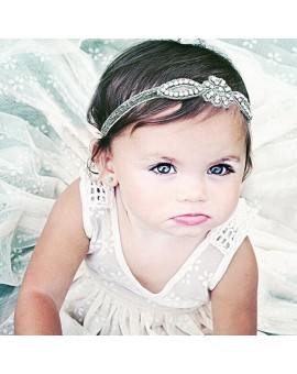 Baby Infant Kids Glittery Crystal Rhinestone Headband Hairband Head Wrap