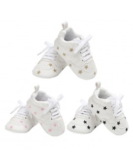 Baby Infant PU Shoes First Walkers Toddler Kids Pentagram Bandage Sneaker Prewalker