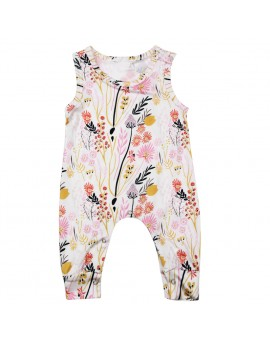 Baby Infant Sleeveless Floral Rompers Toddler Girl Summer Jumpsuit Newborn Fashion Clothes