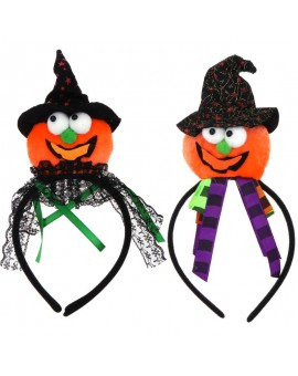 Girls Hairband Halloween Party Pumpkin Cap Look Headwear Hair Clasp Children Party Costume Hair Dressing Accessories