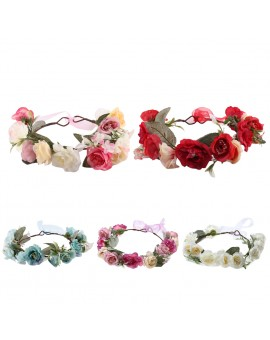Infant Floral Hairband Baby Kids Rose Flower Headband Girls Seaside Headwear Hair Dressing
