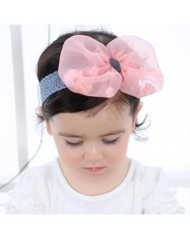 Lace Baby Flower Headband Infant Girls Gauze Floral Headwear Hair Bow Children Kids Hair Accessories