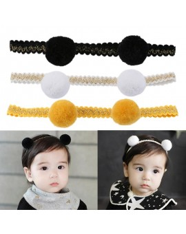 Lovely Girl Headband 2 Balls Lace Cloth Headwear Children Hair Accessories Newborn Hair Ornaments Headdress