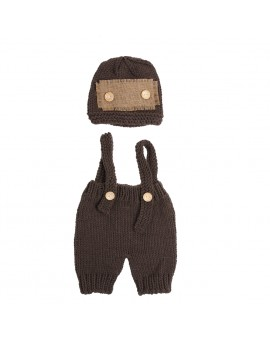 Newborn Baby Photo Props Infant Crochet Knitted Costume Hat Pants Photography Props