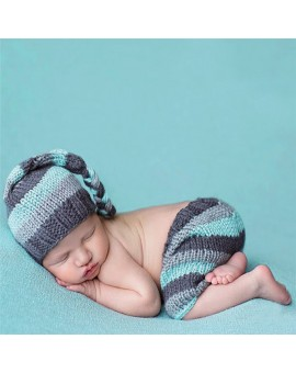0-4 Months Newborn Baby Boys Crochet Knitting Costume Infant Handmade Photo Photography Prop