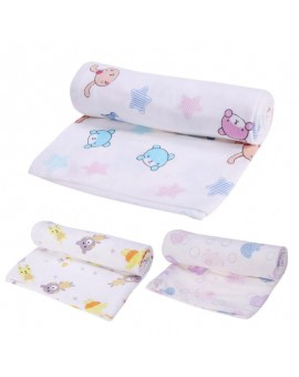 Cotton Baby Swaddles Soft Newborn Blanket Double Layer Gauze Floral Bath Towel Infant Bed Sheet Hold Wraps