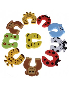 10pcs Baby Cartoon Animal Jammers Stopper Children Guards Door Holder Kids Finger Protector Lock Safety