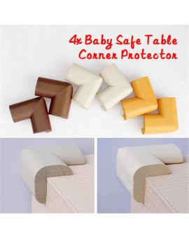 4pcs/SET Baby Safe Desk Table Corner Security Cushion Anti-crash Protector Soft with 4pcs Sticky Paper