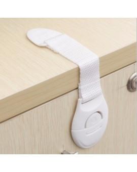 Cabinet Door Drawers Refrigerator Toilet Lengthened Bendy Safety Cloth Belt Plastic Locks For Child Kid Baby Safety