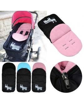 Baby Sleeping Bag Cartoon Zebra Envelopes Trolley Foot Warmer Stroller Thickened Fleece Feet Warming Pad Toddler Sleepsack