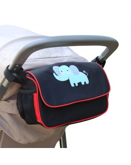 Baby Stroller Bag Nappy Diaper Bag Stroller Stuff Organizer Bag Pushchair Pram Cart Waterproof PVC Carriage Bag