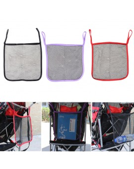 Baby Stroller Bag Organizer Infant Pram Cart Portable Hanging Storage Mesh Bag Trolley Net Carriage Bag Stroller Accessories