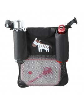 Cartoon Zebra Baby Pram Stroller Storage Bag Diapers Children Bottles Organizer Bag Hanging Basket