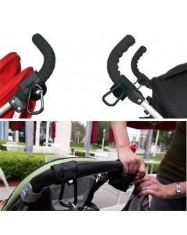 2pcs Baby Pram Stroller Buggy Hanger Trolley Carabiner Clip Rotatable Hook Pushchair Hanging Carrier Holder