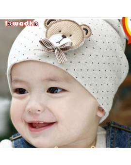2015 Fashion New Cute Baby Hat Newborn Infant Toddler Girl Boy Baby Unisex Cap Polka Dot Beanie Cotton Hat 9 Colors lovely Kids