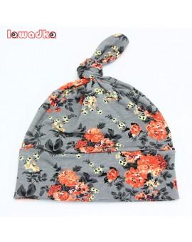2016 Spring Autumn Flower print Cotton Baby Hat Girls Boys beanie Toddler Infant Kids Caps Lovely bonnet Accessories