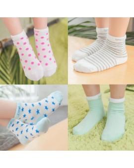 (10 Pieces/lot=5Pairs)  Thin Cotton Newborn Baby Short Socks Girls and Boys Kid Socks Summer Style