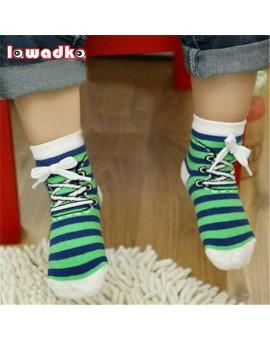 2016 New Born Boy Girl Baby Socks Cotton Casual Meias Infantil Anti Slip Socks Shoes Design