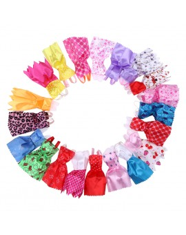 20pcs Mix Color Dolls Clothes Children Play House Doll Dressing Up Costume Girls Doll Princess Party Dresses