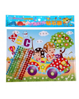 2pcs DIY Diamond Sticker Handmade Crysta Paste Painting Mosaic Puzzle Toys