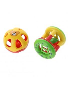 2pcs/set Baby Rattle Cute Handbells Children Musical Instrument Developmental Toys Kids Shanking Bed Bells Baby Toys
