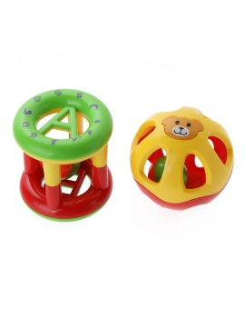 2pcs/set Baby Rattle Cute Handbells Children Musical Instrument Developmental Toys Kids Shanking Bed Bells Baby Toys