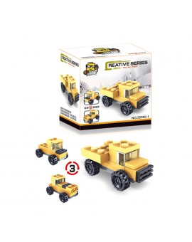 3 in 1 Transformation Assembly Car Model Kids Creative City Car Children Developmental Toy Gift Random Color