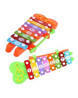 8 Notes Cartoon Animal Xylophone Glockenspiel Musical Instrument Music Toy