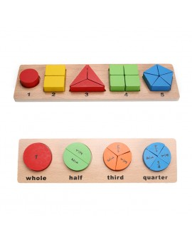 Wooden Geometric Puzzle Child Developmental Tangram Jigsaw Puzzles Sorting Board Kids Math Learning Educational Toys
