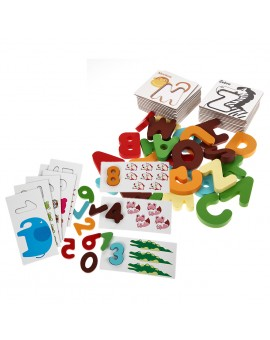 Wooden Letter Digital Card Kid Early Educational Enlightenment Figure/Animal Puzzle Children Arithmetic Digital Card Puzzles