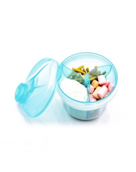 2pcs 3 Grids Portable Baby Infant Milk Powder Box Formula Dispenser Toddler Kids Food Storage Container