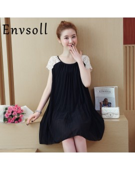 2017 Summer New Pattern Maternity Dress Pleated  Lace Chiffon Dress Pregnancy Clothes For Pregnant Woman Skirt