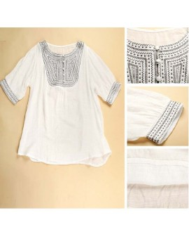 Maternity Clothing Embroidery Pregnant Blouse Shirts For Pregnancy Casual Women Clothes Camisa Roupas Para Gestantes