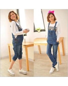 2016 Spring/Autumn New Fashion Maternity Jeans  Pregnant Bib Pants Suspenders Trousers For Pregnant Women PT01